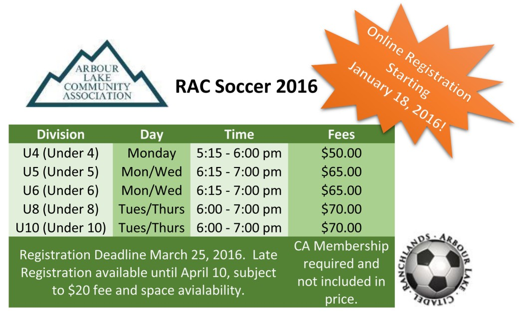 RAC Soccer 2016 Front Page